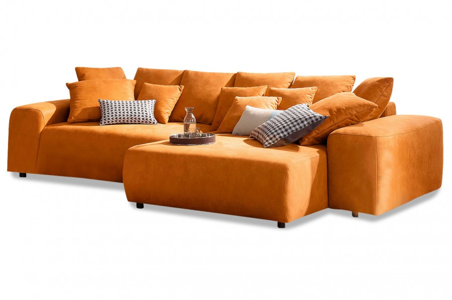 ecksofa glamour mit schlaffunktion orange mit boxspring sofas zum halben preis. Black Bedroom Furniture Sets. Home Design Ideas