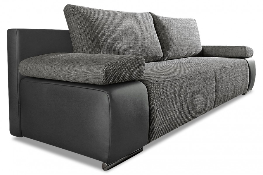3er sofa mit schlaffunktion schwarz sofas zum halben. Black Bedroom Furniture Sets. Home Design Ideas