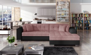 Eltap Ecksofa Sorento rechts - mit Schlaffunktion - Pink