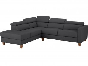 Leder Ecksofa  links - Braun