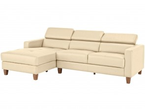 Leder Ecksofa  links - Beige