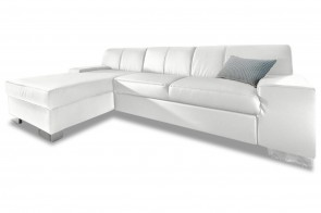 Ecksofa Star links - Weiss