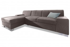 Ecksofa Star links - Grau