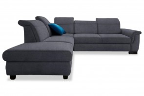 Ecksofa XL Sully links - mit Schlaffunktion - Grau