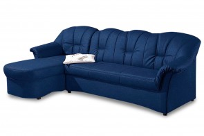Ecksofa Papenburg links - Blau