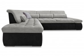 Ecksofa XL Aldo Kis links - Grau