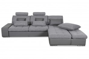 Home Group Ecksofa Change-P - mit Schlaffunktion - Grau