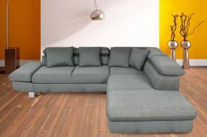 Sofa L-Form Sun-P rechts - mit Schlaffunktion mit Federkern