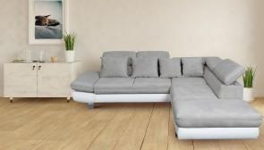 Ecksofa XL Sun-P rechts - mit Relax und Schlaffunktion - Graubeige