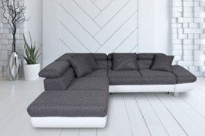 Ecksofa Sun-P links - Asphalt