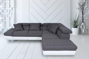 Sofa L-Form Sun-P rechts - Asphalt