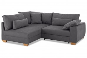 Castello Ecksofa XL Helena links - Anthrazit mit Federkern