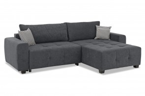 Collection AB Ecksofa Bella rechts - mit Schlaffunktion - Anthrazit