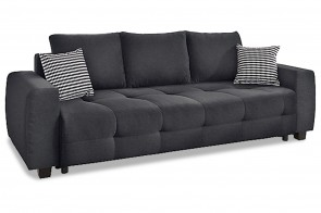 Collection AB 3er-Sofa Bella - mit Schlaffunktion - Anthrazit