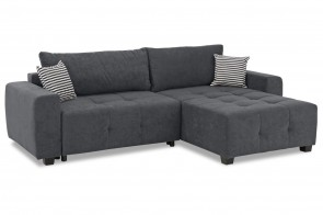 Collection AB Ecksofa Bella - Anthrazit mit Federkern