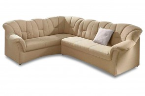 Ecksofa XL Papenburg-M links - Creme