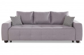 Collection AB 3er-Sofa Bella - mit Schlaffunktion - Grau