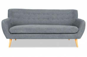Atlantic Collection 3er-Sofa Noris - Grau