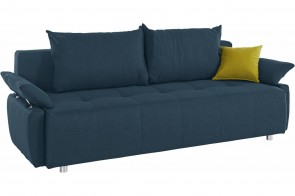 Collection AB 3er-Sofa Funtastic - mit Schlaffunktion - Blau mit Federkern