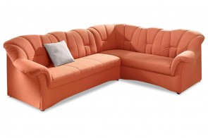 Ecksofa XL Papenburg-M rechts - Orange