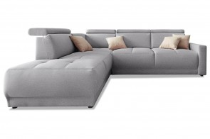 Ecksofa XL Ava links - Grau
