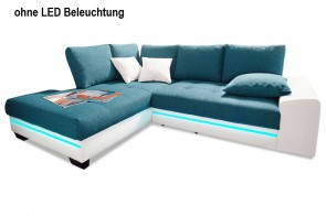 Ecksofa XL Nikita links - Blau