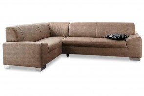 Ecksofa XL Alisson links - Braun