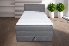 Boxspringbett 120x200 Hawaii - Grau