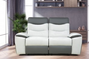 2er-Sofa Look - mit Relax - Silber