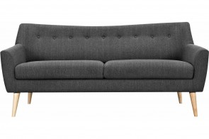 Furntrade 3er-Sofa Mirko - Anthrazit