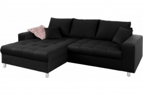 Castello Ecksofa Tobi 4 links - mit Schlaffunktion - Anthrazit