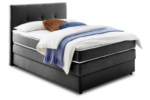 Furntrade Boxspringbett 140x200 Merlin - Anthrazit