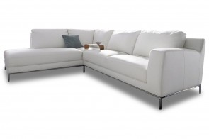 Cotta Ecksofa XL Silly links - Altweiss