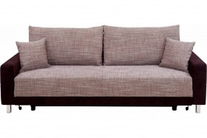 Collection AB 3er-Sofa Perugia - mit Schlaffunktion - Cappuccino