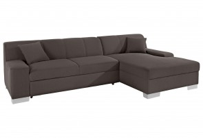 Domo Collection Ecksofa Bero - Braun