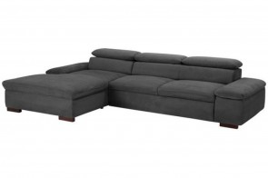 Ecksofa  links - Grau
