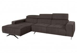 Domo Collection Ecksofa Trento - Braun