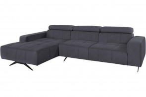 Sofa L-Form Trento links - Grau
