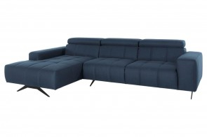 Ecksofa Trento links - Blau