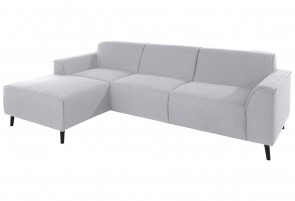 Domo Collection Ecksofa Amora - Silber