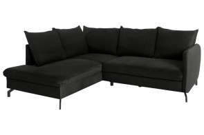 Castello Ecksofa XL Shape links - Schwarz