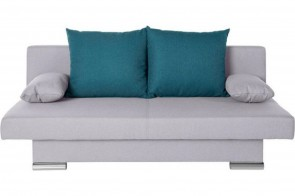 Collection AB 3er-Sofa Polly  - mit Schlaffunktion - Silber