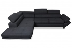 Ecksofa XL Sam - P links - mit Schlaffunktion - Anthrazit