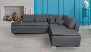 Collection AB Ecksofa XL N&D-P rechts - mit Schlaffunktion - Grau