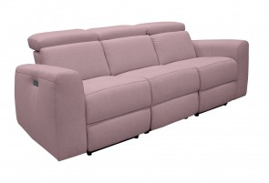3er-Sofa Sentrano - mit Relax - Rose