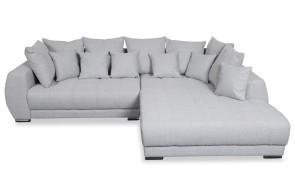 Ecksofa XL Trewir-P rechts - Grau