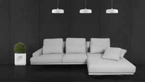 Sofa L-Form Trevi  rechts - Silber