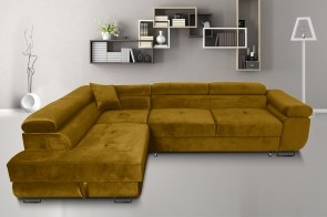 Furniture4you  Ecksofa Amaro-P links - mit Schlaffunktion - Olive