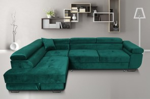Furniture4you  Sofa L-Form Amaro-P links - mit Schlaffunktion - Gruen