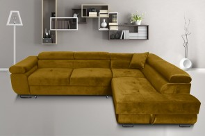 Furniture4you  Ecksofa Amaro-P rechts - mit Schlaffunktion - Olive